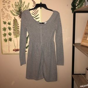 UO BDG Knit Henley Long Sleeve Mini Dress